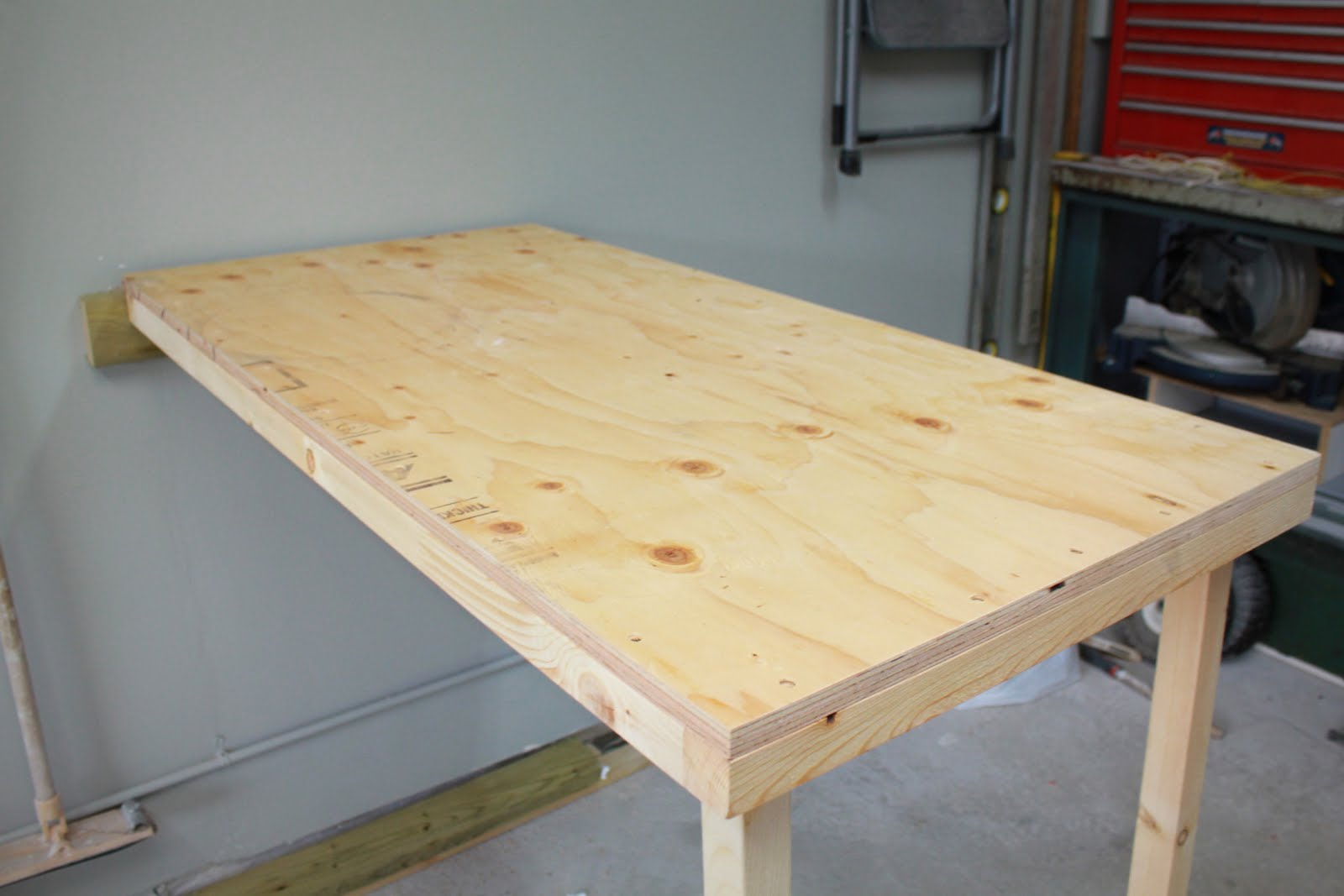 Fold Up Garage Work Table