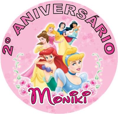 varios adesivos personalizados das princesas