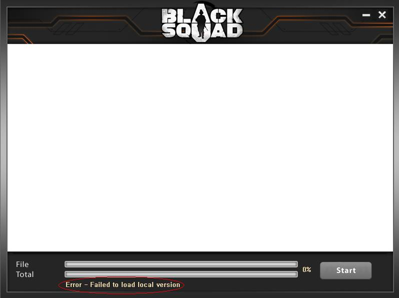 "Cara Mengatasi Error ""Failed to load local version"" Black Squad"