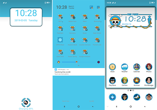 Oppo Theme: Oppo A3s One Piece Theme