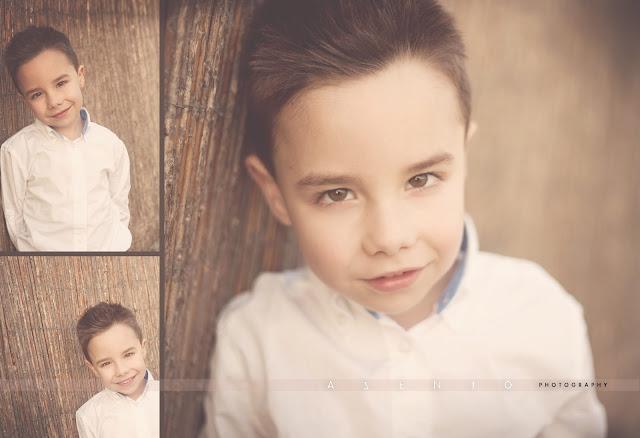 collage niño tres caras