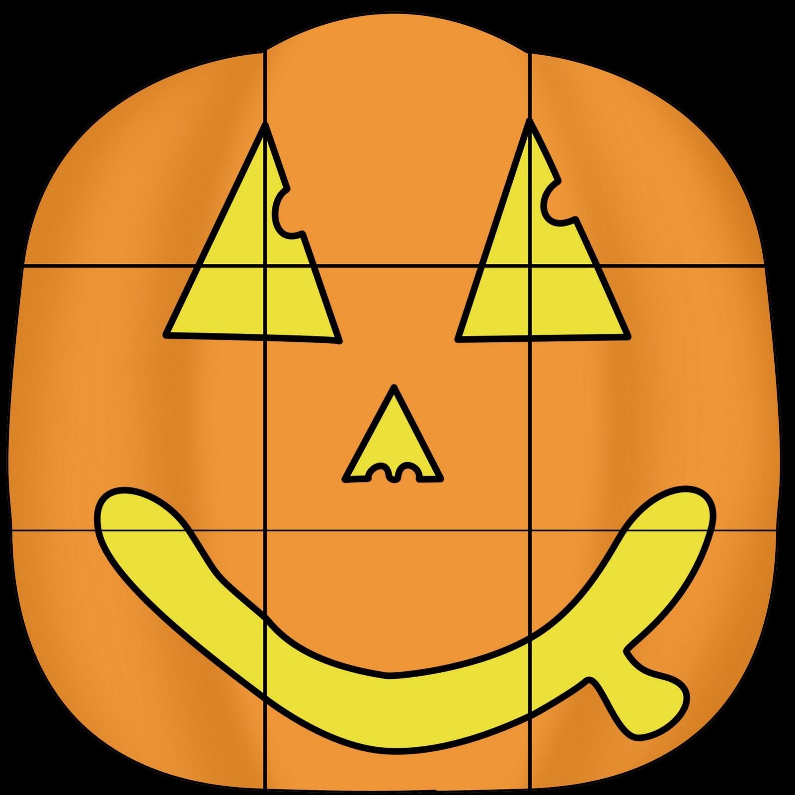 Jill Made It Pumpkin Puzzle Blocks