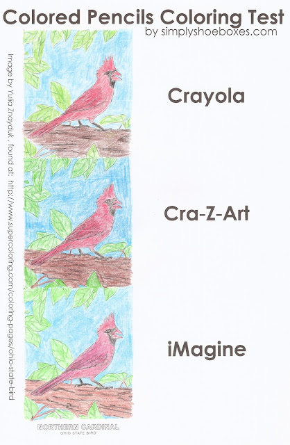 Colored pencil coloring test.
