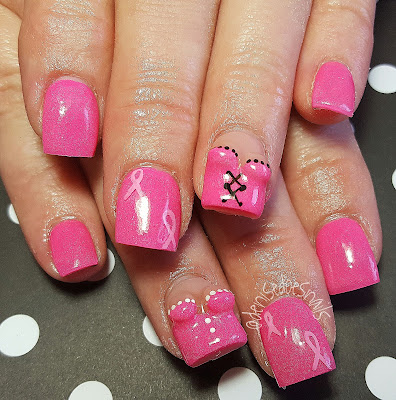 Breast Cancer Awareness boobie nails