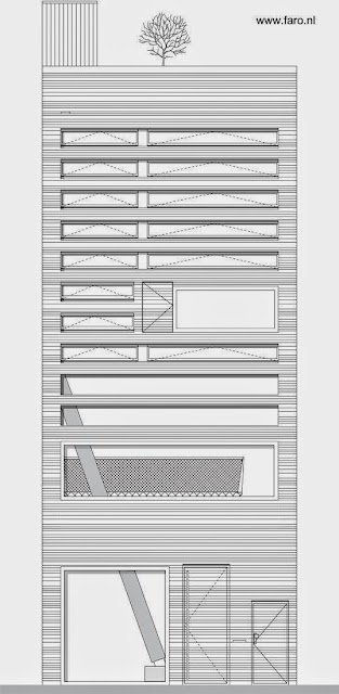 Alzada de la fachada principal