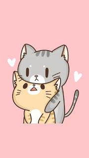 Imágenes Kawaii Tiernas Hermosas Amor gatos gatitos animales Fondos