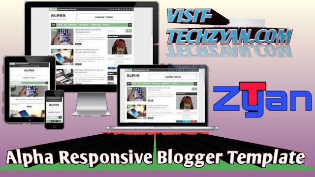 Alpha Responsive Blogger Template