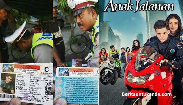 Ditilang Polantas, Pengendara Ini Malah Tunjukkan SIM Sinetron 'Anak Jalanan'