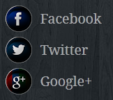 image of facebook, twitter, Google plus social icons