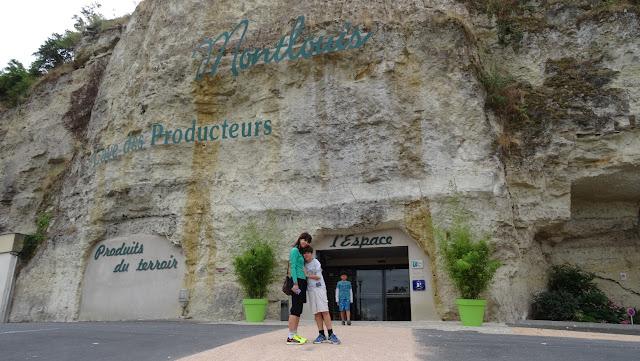 Entrada da vinícola Montlouis, França