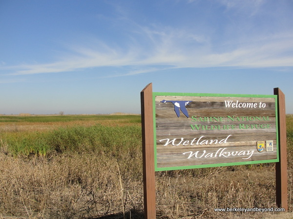 welcome sign at Sabine National Wildlife Refuge Wetland Walkway in Louisiana