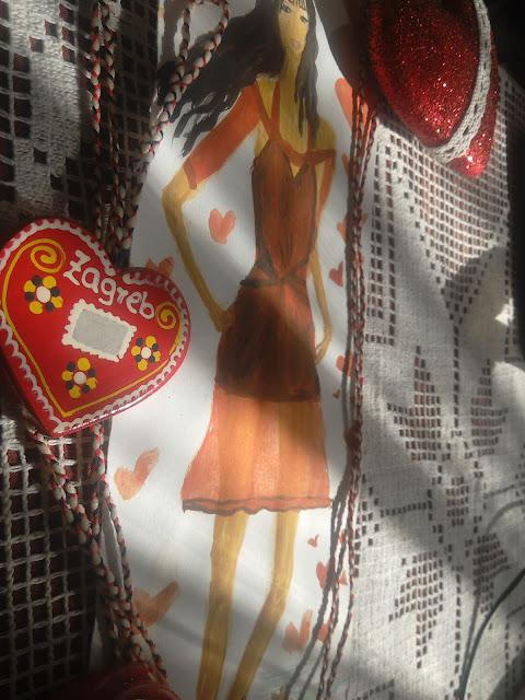 #modnailustracija #reddress #fashionillustration