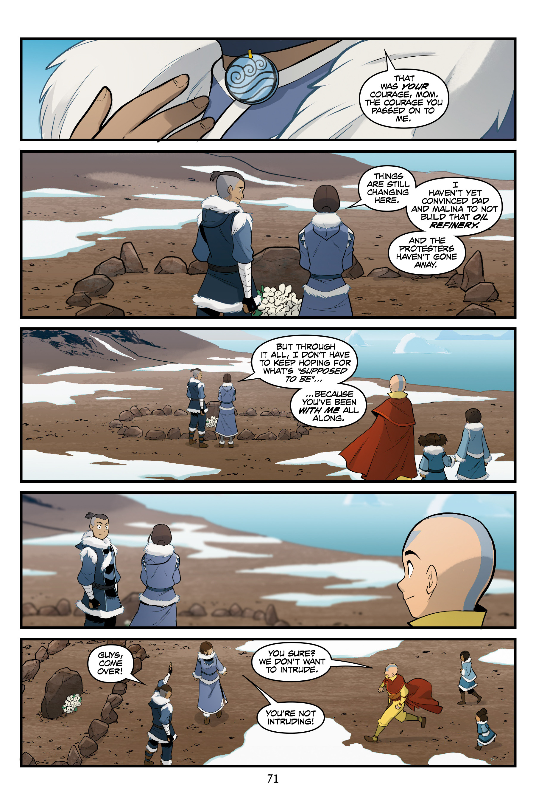 Read online Nickelodeon Avatar: The Last Airbender - North and South comic -  Issue #3 - 70