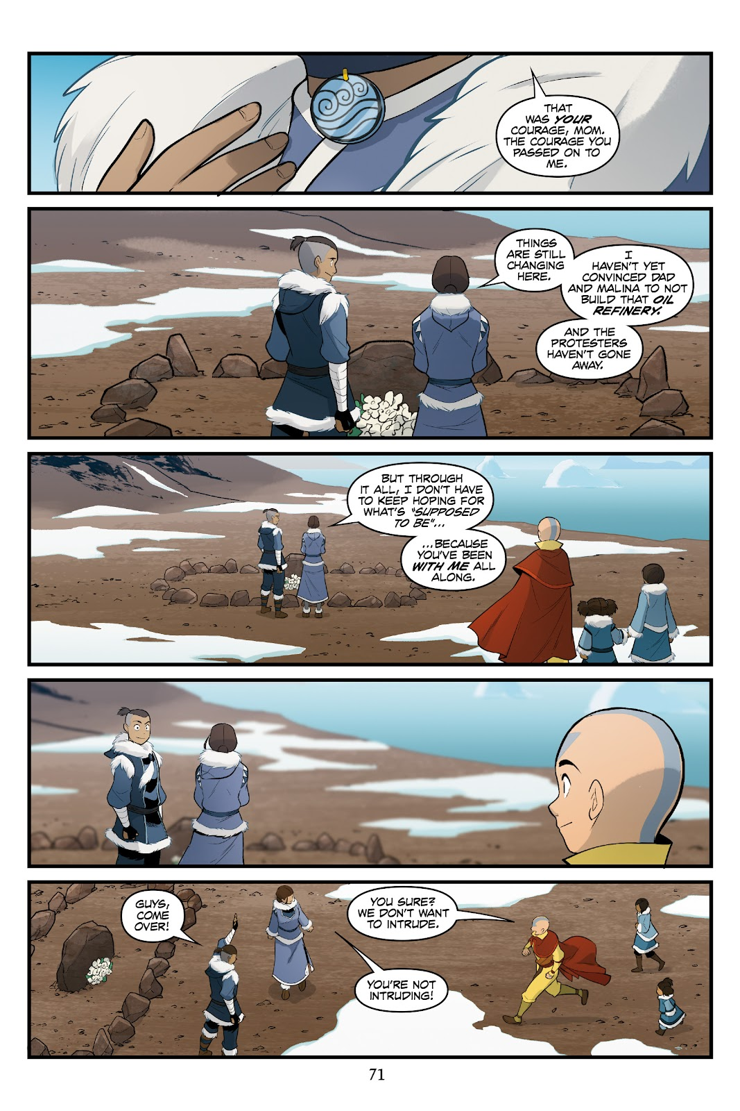 Nickelodeon Avatar: The Last Airbender - North and South issue 3 - Page 70