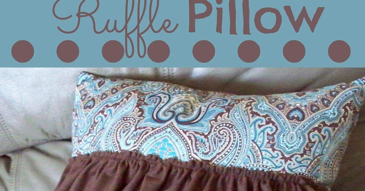Ruffle Pillow Tutorial - Adventures of a DIY Mom