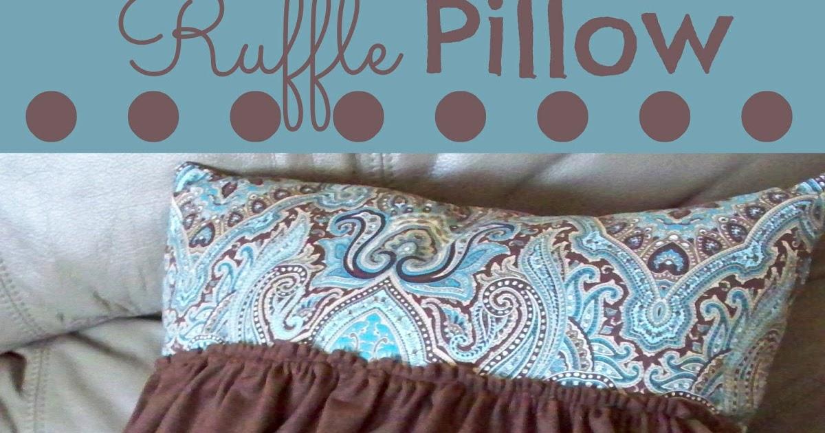 Ruffle Pillow Tutorial - Adventures of a DIY Mom