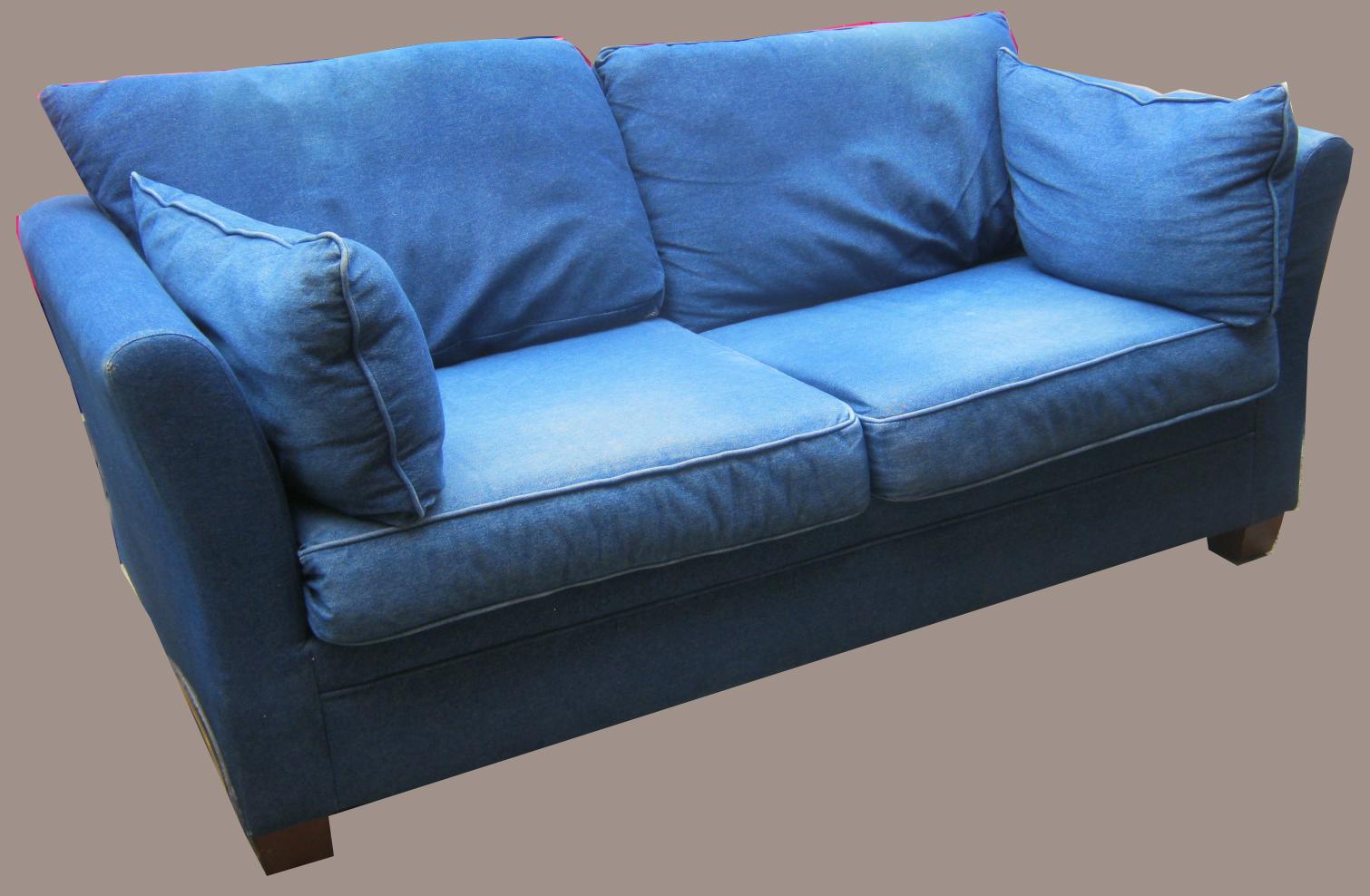 Uhuru Furniture Amp Collectibles Denim Sofa Sold