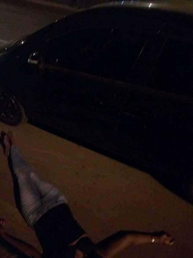 Photos: Man dumps unconscious woman by the roadside in Nairobi