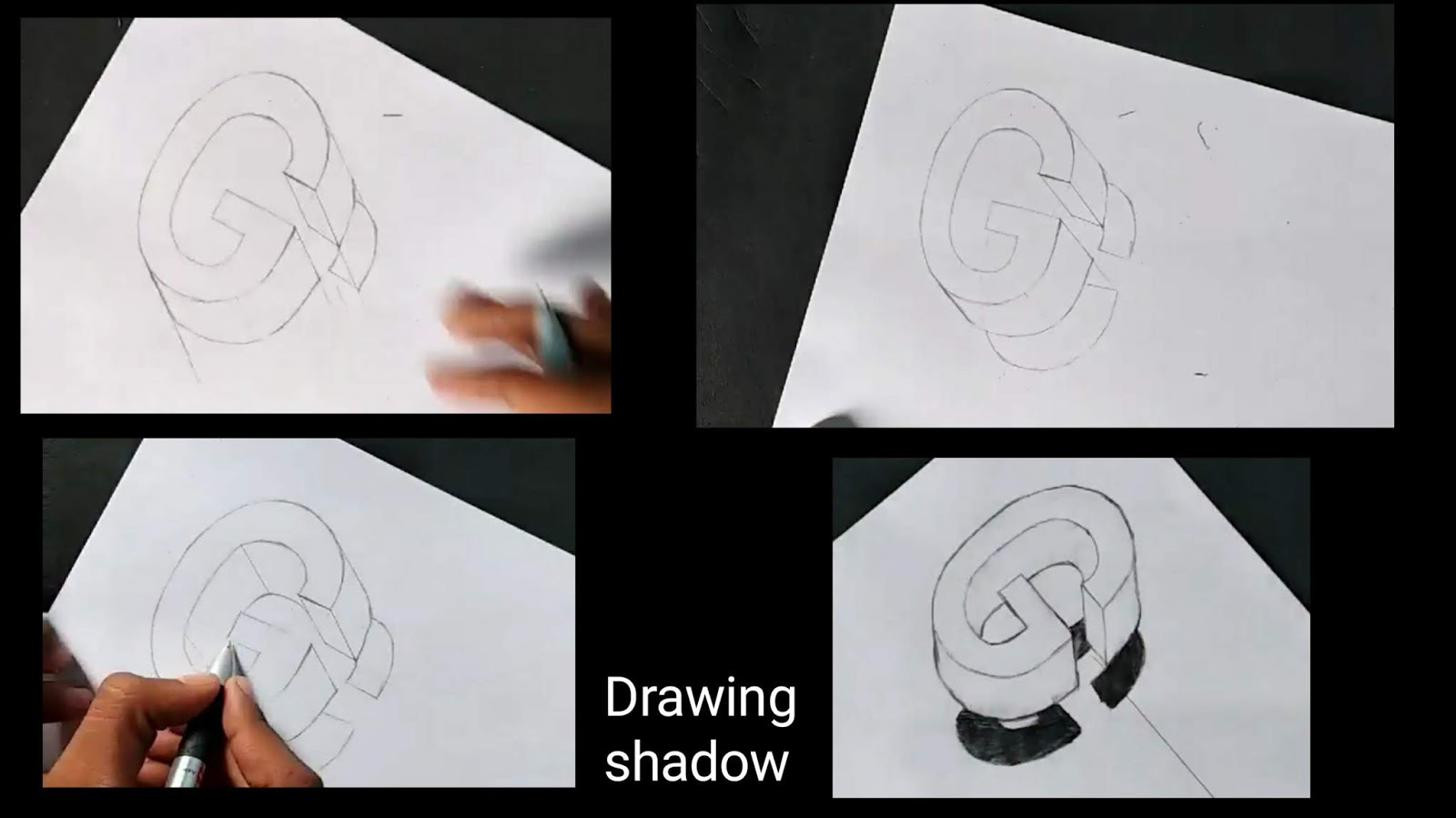 how to draw 3d drawing step by step