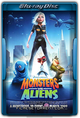 Monstros Vs Alienígenas Torrent 2009 720p BluRay Dublado