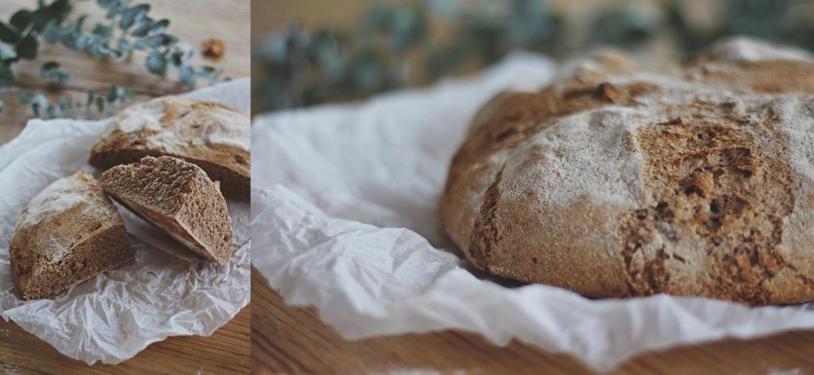 Angeschnittener Laib Brot