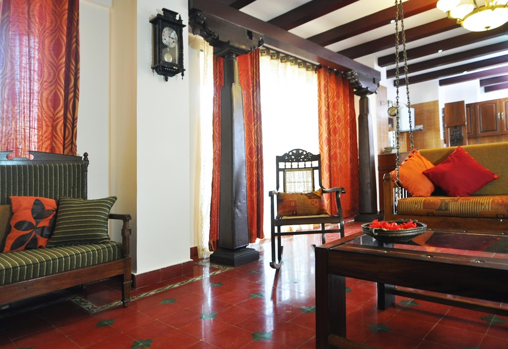 Home tour komala krishna s charming chettinad style home for Small bathroom designs bangalore