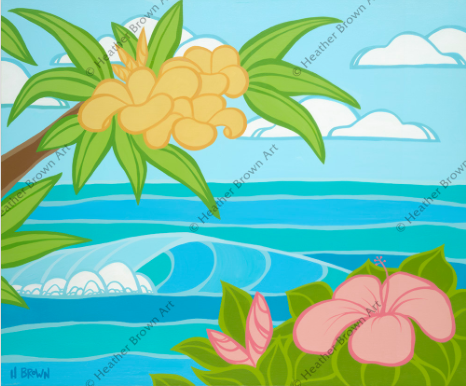 tropical art from hawaii islands