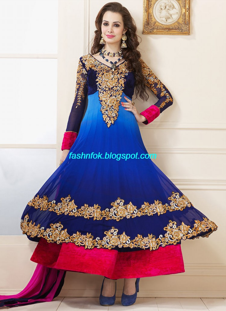 Indian anarkali umbrella wedding brides bridal party wear for Ladies dresses for wedding party