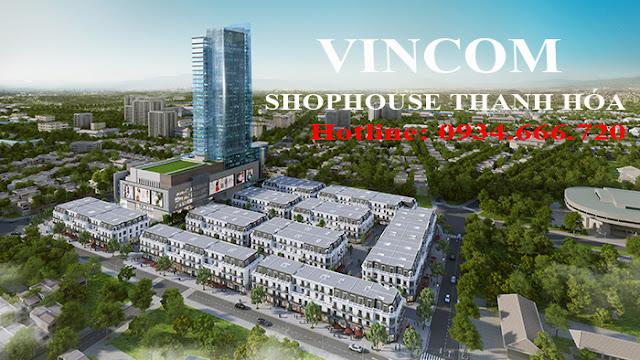Phối cảnh dự án Vincom Shophouse Thanh Hóa