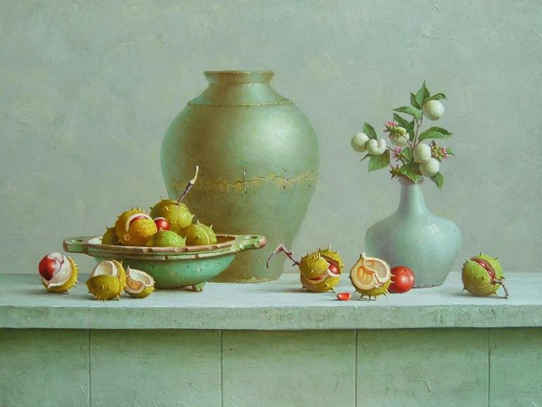 Cuadros modernos pinturas y dibujos bodegones de for Jarrones de decoracion modernos