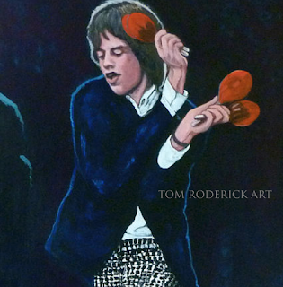Portrait of Mick Jagger by Boulder portrait artist Tom Roderick