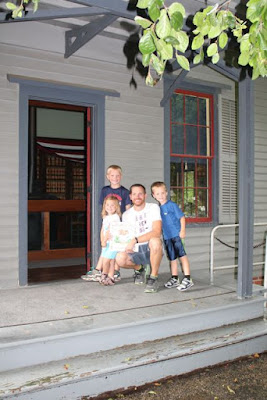 James A. Garfield Campaign Office Front Porch via www.happybirthdayauthor.com