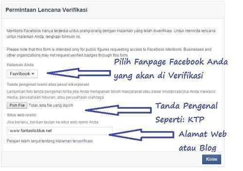 Cara Verifikasi Facebook centang Biru