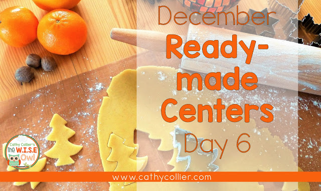 December Ready-made centers. Day 6: Beginning and Ending Sounds.