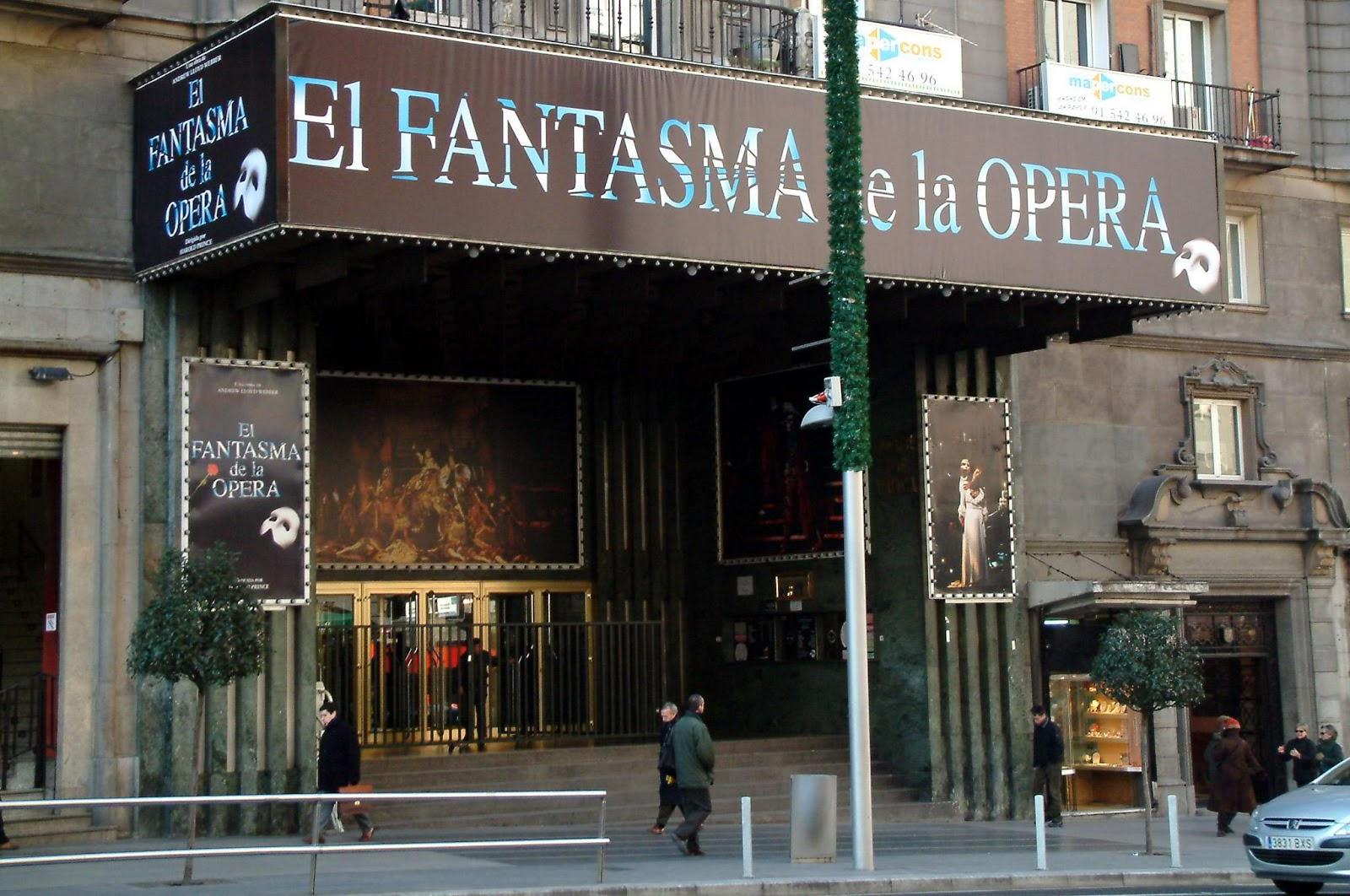Marquestina del Teatro Lope de Vega de Madrid amb 'El Fantasma de la Ópera'.