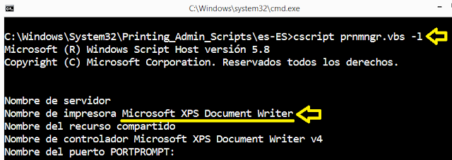 Windows: Impresora predeterminada script