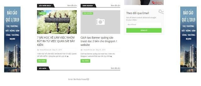 Cách tạo Banner quảng cáo trượt dọc 2 bên cho blogspot / website