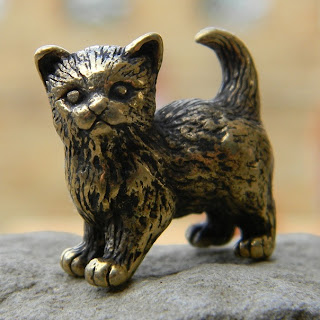 купить милая статуэтка в подарок женщине котик фигурка  кошечка
