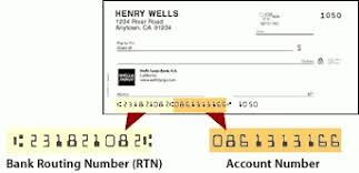 bank transit number for wells fargo