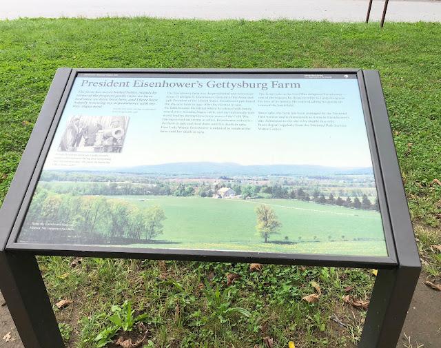 Sign for President Eisenhower's Gettysburg Farm