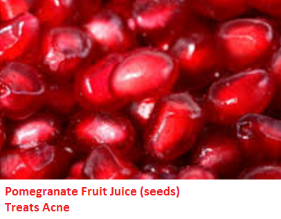 Pomegranate Fruit Juice (seeds) Treats Acne