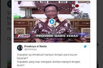 Enggan Minta Maaf, Mahfud MD Malah Tuding Buzzer Bayaran Adu Domba Dirinya dengan Aceh