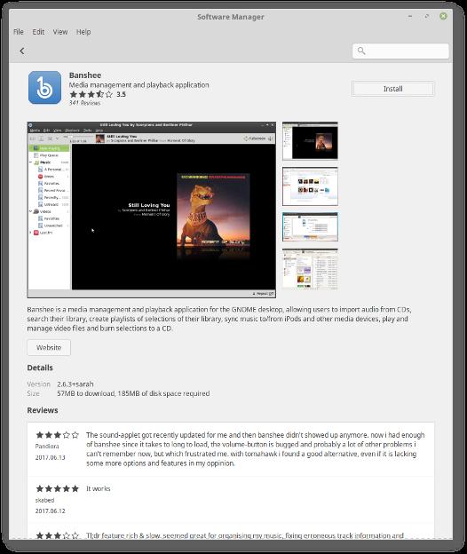 Novo MintInstall Linux Mint 18.3