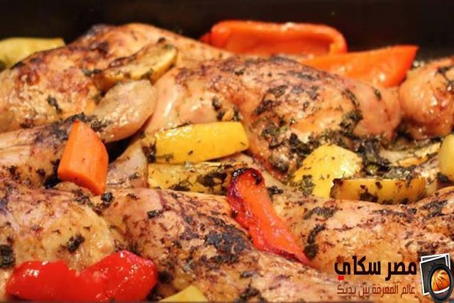 الدجاج بالزعتر وخطوات التحضير للريجيم Chicken