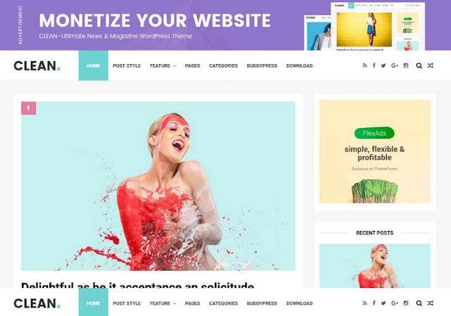 Clean Minimal Blogger Theme