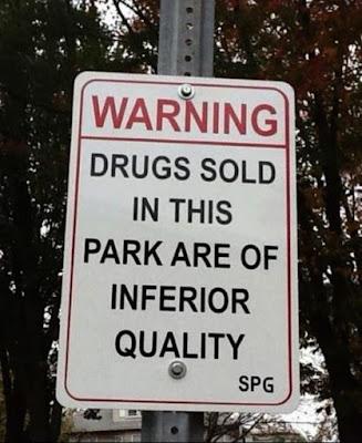 Warning - sign board that desperately needs explaination
