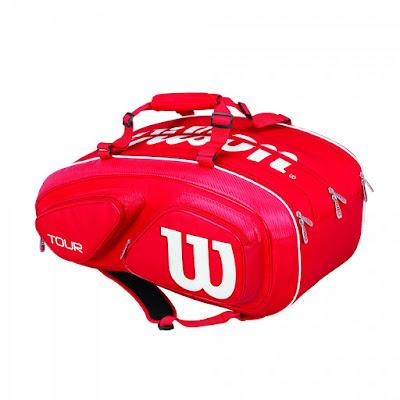 Tenisový bag Wilson Tour V 15 Pack červený
