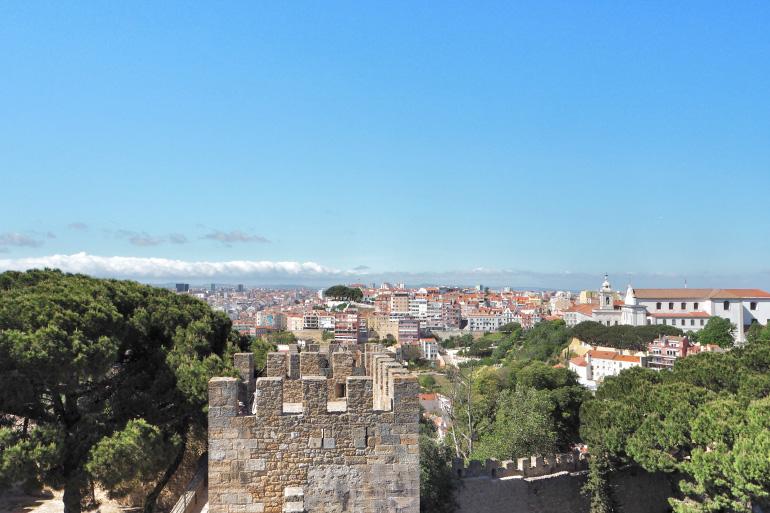 Vue depuis le château de Saint-Georges à Lisbonne