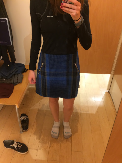 Gap Wool Plaid Zip Mini Skirt review