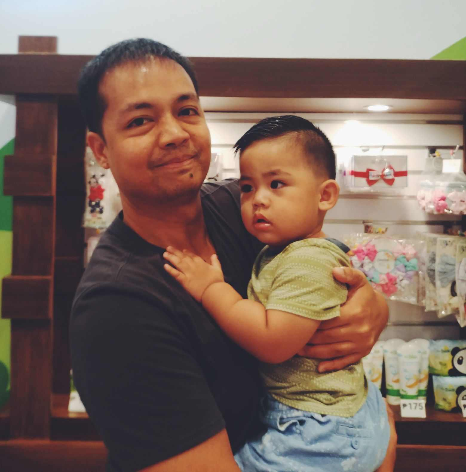 Miguel's second haircut at Cuts 4 Tots SM Fairview
